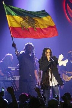 Reggae singer Damian Marley wears his hair in dreadlocks.
