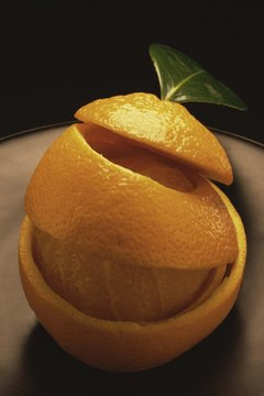 Orange peel contains D-limonene.