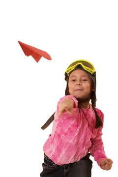 Preschoolers can learn while they play with airplane cutouts.