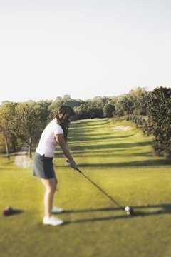 Beginning women golfers should use a higher-lofted wood instead of a driver.