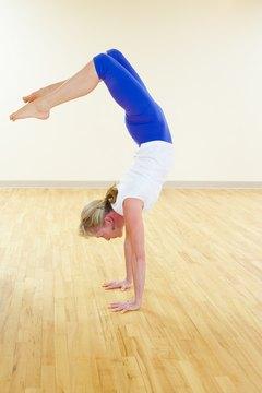 Handstands build arm muscles.