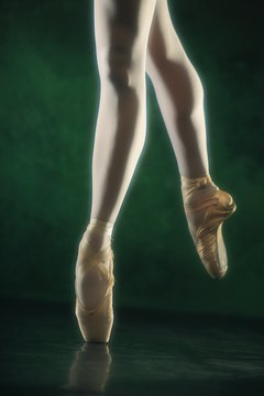 With time, practice and exercise a ballerina's arches develop.