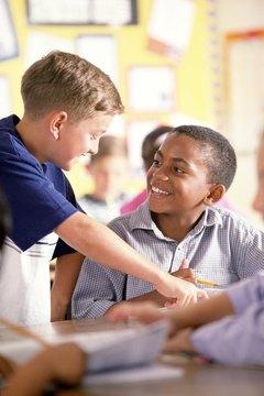 Teamwork activities in school help students make new friends.