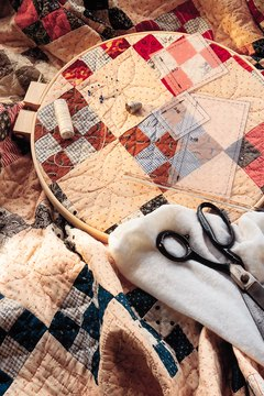 The women saw the unfinished quilt as evidence of Mrs. Wright's mental state.