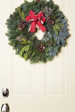 Craft an elegant wreath to hang from your front door.