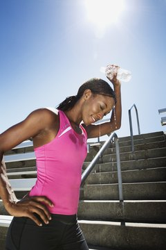 Drink plenty of cold water after your run to rehydrate your body.