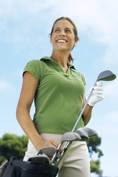 Women should choose clubs with the help of an experiences representative or local golf pro.