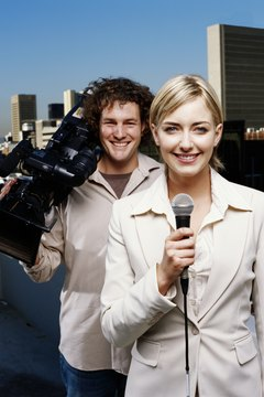 Mass communications majors can work as reporters and journalists.