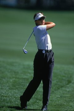 Annika Sorenstam's simple swing always looks relaxed and balanced.