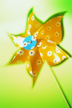 A pinwheel is a fun alternative to the bouquet.