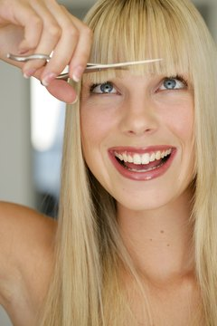 Put the scissors down to avoid sporting bad bangs.
