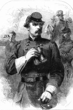 George B. McClellan unsuccessfully challenged Abraham Lincoln in the 1864 election.