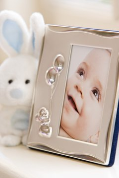 Any godparent would treasure a framed portrait of the baby.