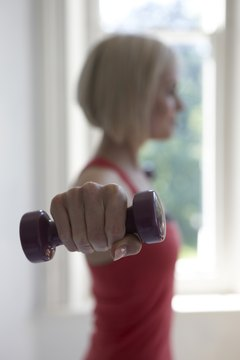 You can still get a great workout using smaller weights.