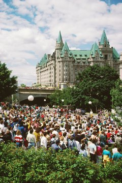 Canada is a parliamentary democracy where citizens enjoy rights of assembly and freedom of expression.