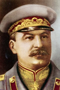 Soviet leader Joseph Stalin's totalitarian regime used terror to maintain power.