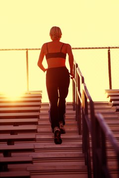 Stair steps can strengthen your knees.