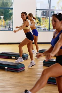 Get in shape with a step aerobics class.