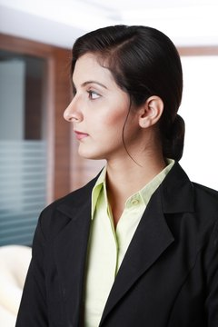 Side view of a Young businesswoman