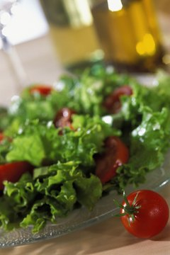 Lettuce and tomatoes deliver fiber and vitamin A.
