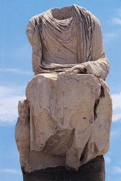 The draped clothes on ancient Greek statues and paintings influence fashion today.