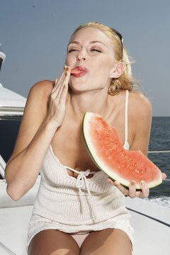 Watermelon is a good remedy for dehydration.