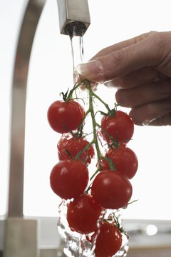 Most of the calories in cherry tomatoes come from carbohydrates.