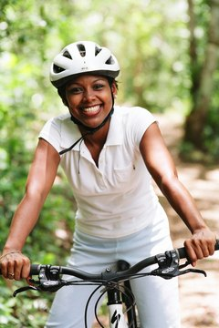 Riding a bike helps you burn calories faster than walking.