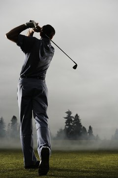Use visual knowledge of results and note balance to guide swing improvement.