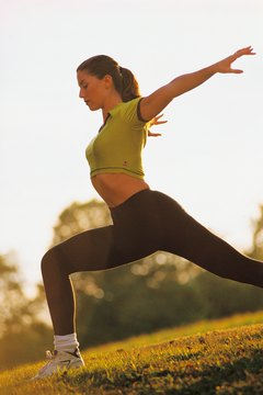 A lunge can help tone your lower body.
