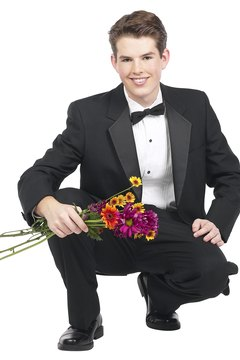 Waiting for your boyfriend to ask you out can mean flowers and a fancy time.