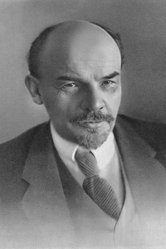 Russia became the first official communist country due largely to the leadership of Vladimir Lenin, depicted here.