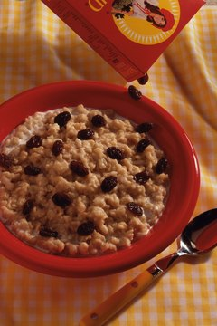Add raisins to oatmeal for sweetness and extra fiber.