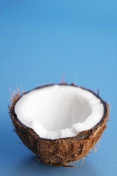 Coconut oil comes from the creamy white flesh of the tropical fruit.