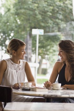 Having coffee with a friend can give you the motivation to get dressed in the morning.