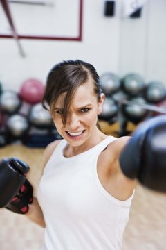 Cardio boxing helps you burn calories at a rapid rate.