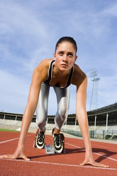 The 400-meter dash is the most endurance demanding of all sprints.
