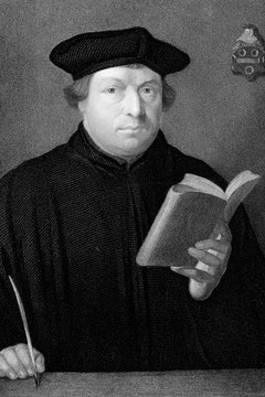 Martin Luther insisted that all church teaching be based on Scripture alone.