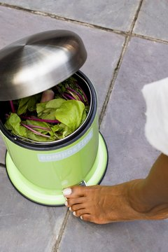 Go green and build your own homemade composting bin.
