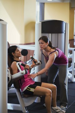 Part of your job as a personal trainer is helping clients perform exercises properly.