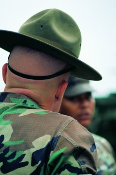 Photo, man wearing camouflage, rear view, Color, Low res