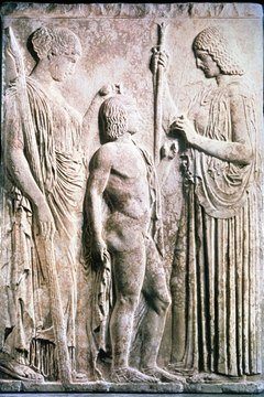 Demeter taught humans to grow their own food so they wouldn't starve in the winter.