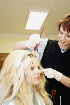 Hair coloring is part of the curriculum at the Academy of Esthetics.