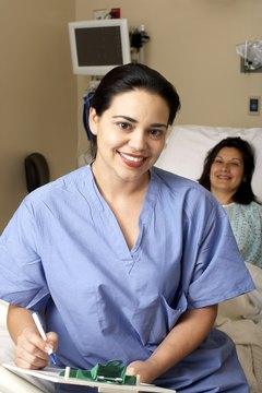 "Nursing students work supervised hospital shifts called ""clinicals."""