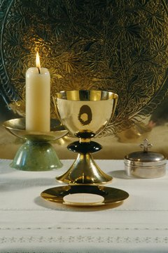 A Table Set for Holy Communion
