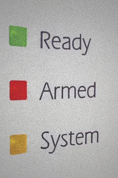 Emergency color codes are similar to those found on home alarm systems.