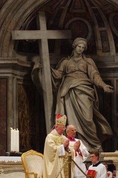 A Requiem Mass at St. Peter's Basilica, Vatican City.