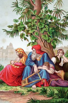 The story of Nebuchadnezzar's alleged lycanthropy is told in the context of the Jewish exile in Babylon.