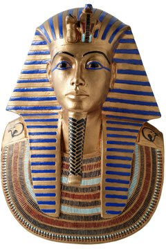 Funeral mask of King Tutankhamun.