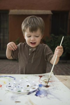 Take painting activities outside to avoid messes in your home.